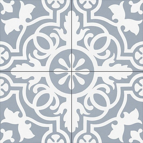 Bella Glass Tiles Amalfi Coast Porcelain Tile Teal Doily