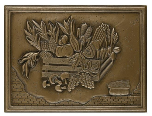 My Tile Backsplash Bronze Crops Plaque