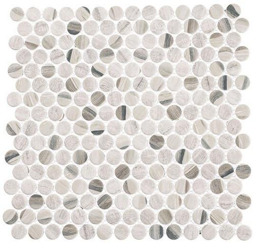 Bella Glass Tiles Pixels Series PX781 Dusted Ash
