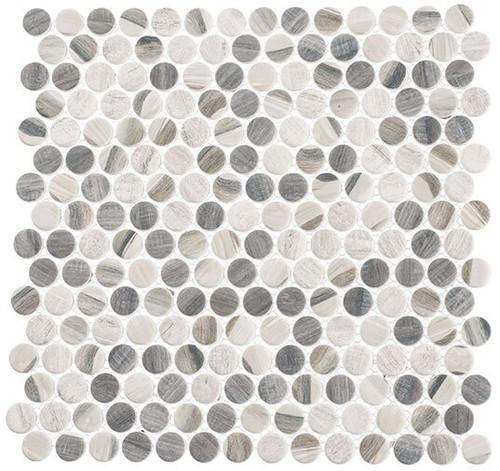 Bella Glass Tiles Pixels Series PX782 Chrome Arc