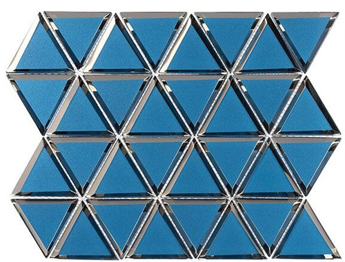 Bella Glass Tiles Pinwheel Series PWL812 Pompeii Blue