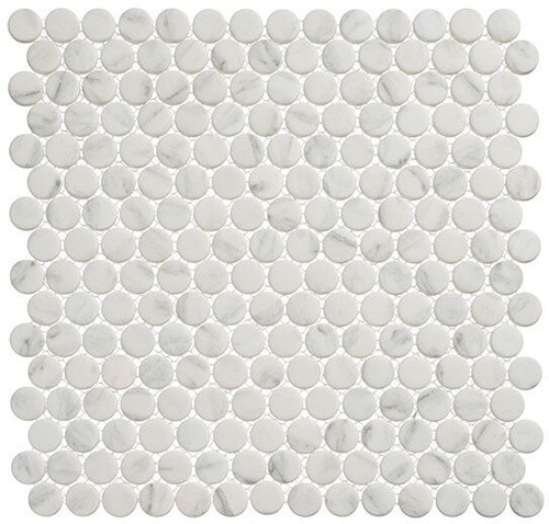 Bella Glass Tiles Polka Dots PLK61 Jasmine Delight