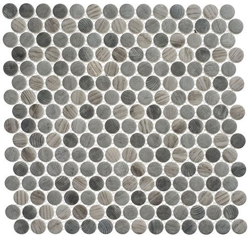 Bella Glass Tiles Polka Dots PLK62 Umbel Grey