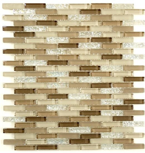 Bella Glass Tiles Bella Glass Tiles Jewel Series J-602 Sandstone Frothe