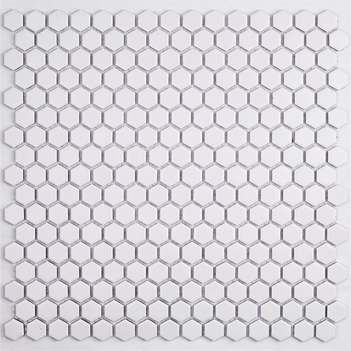 Soho Studio Simple Hexagon Solid White Matte