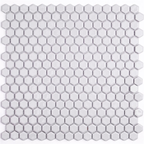 Soho Studio Simple Hexagon Solid White Polished