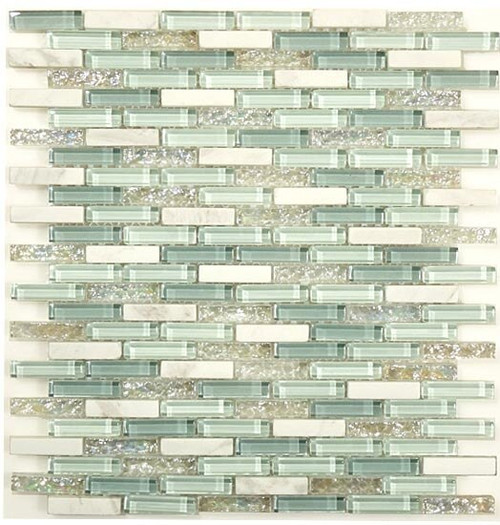 Bella Glass Tiles Bella Glass Tiles Jewel Series J-605 Sky Topaz