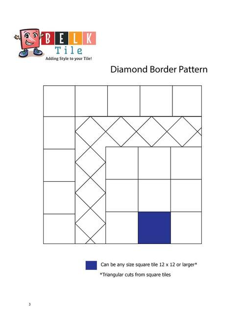 BELK Tile Patterns Diamond Border Floor Tile Pattern