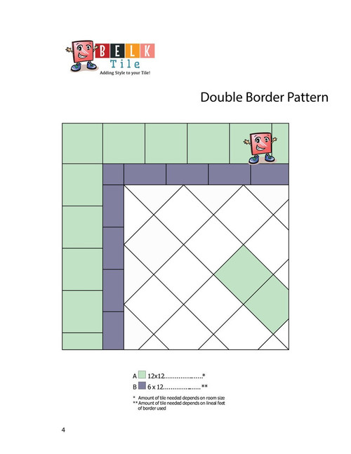 BELK Tile Patterns Double Border Floor Tile Pattern