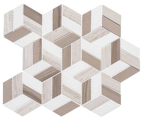 Bella Glass Tiles Joyous Moments Marble Mosaic Quaint Corner JM741