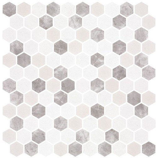 Bella Glass Tiles Karma Ridge Hexagon Mosaic Levan Trail KR1402