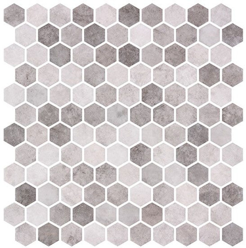 Bella Glass Tiles Karma Ridge Hexagon Mosaic Yoga Serenity KR1404