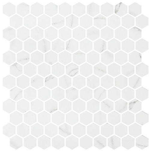 Bella Glass Tiles Karma Ridge Hexagon Mosaic Endless Calm KR1406