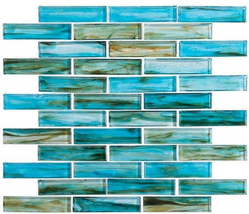 Bella Glass Tiles Oyster Cove Series Inspiration Teal OTC1202