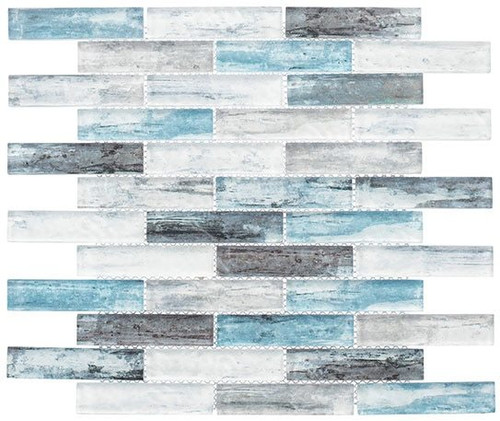 Bella Glass Tiles Metropolis Series MET762 Parker Blue