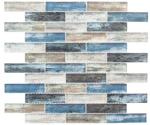 Bella Glass Tiles Metropolis Series MET763 Kent Sky