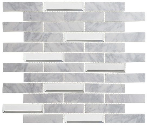 Bella Glass Tiles Beveled Castle Series BCA651 Whitecliff Hall