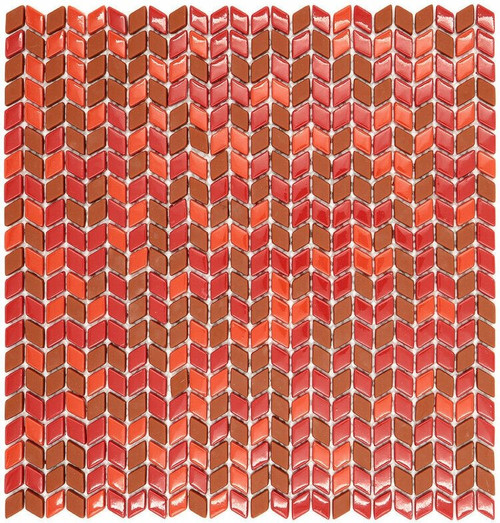 My Tile Backsplash Sicily Collection Series Rhomboid Wildfire