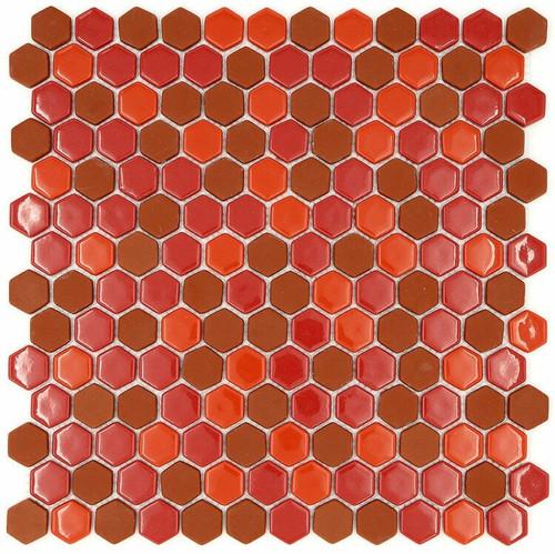 My Tile Backsplash Sicily Collection Series Hexagon Wildfire