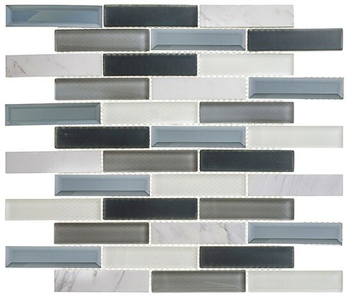 Bella Glass Tiles Beveled Castle Series BCA655 Azure Gardens