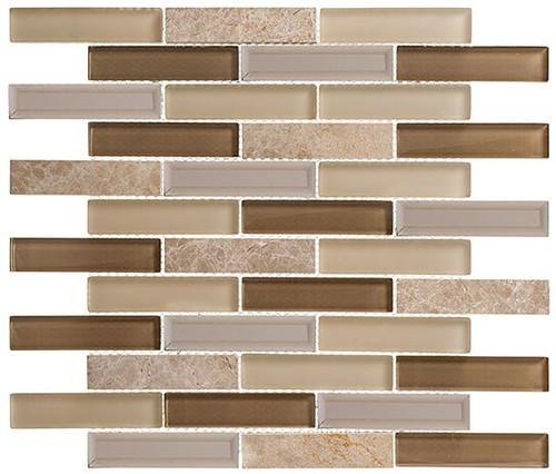 Bella Glass Tiles Beveled Castle Series BCA656 Lands End