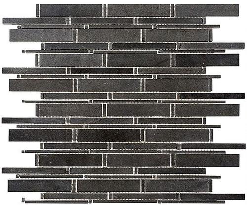 Bella Glass Tiles Cascade Series Basalt CS90