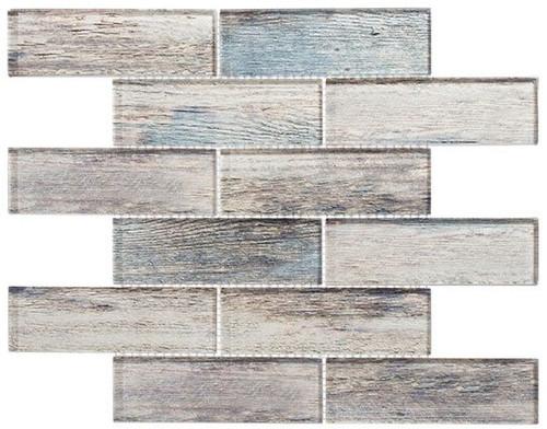 Bella Glass Tiles Westminster Series WM778 Palace Teak