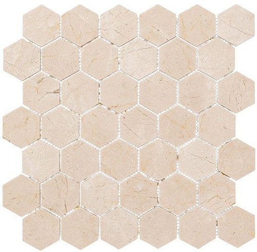 Bella Glass Tiles Colonial 2 Inch Hex Village Square CLNL279
