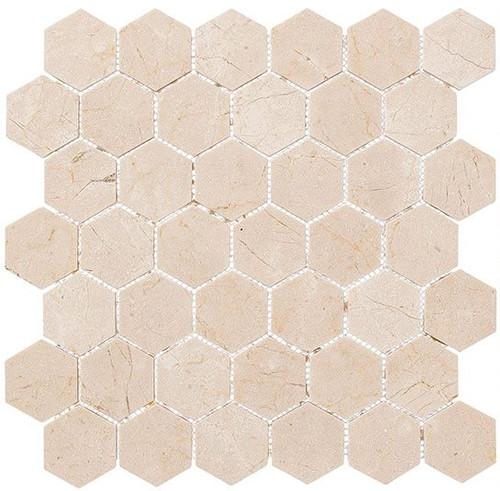 Bella Glass Tiles Colonial 2 Inch Hex Village Square CLNL279
