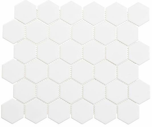 Bella Glass Tiles Freedom Avenue 2 inch Hexagon United Dove FDM1821