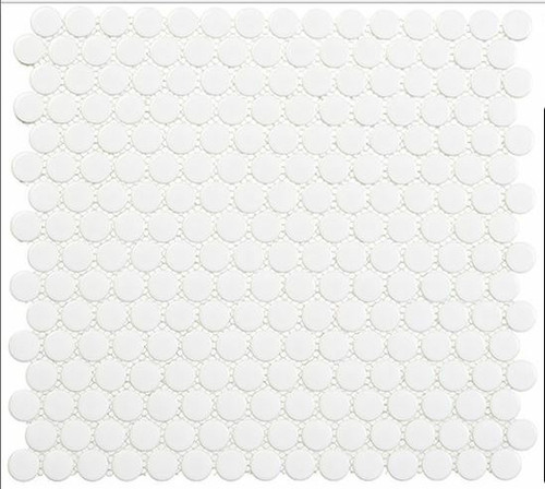 Bella Glass Tiles Freedom Avenue Penny Round United Dove FDM1801