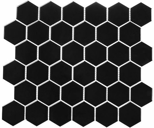 Bella Glass Tiles Freedom Avenue 2 inch Hexagon Monolithe FDM1824