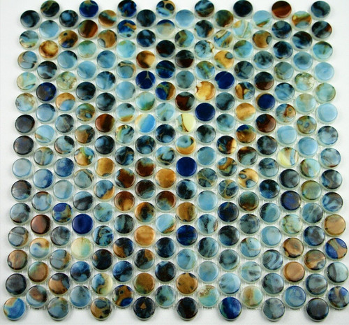 Bella Glass Tiles Hearth Palace Penny Round Print HP1PRP
