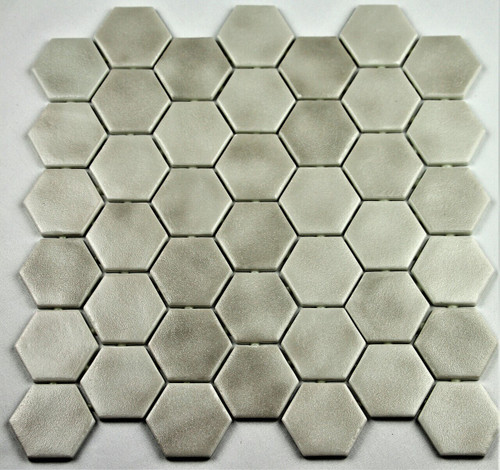Bella Glass Tiles Hearth Palace Hexagon Stone Glass Gainsboro HP2HSGG