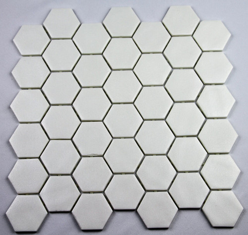 Bella Glass Tiles Hearth Palace Hexagon Stone Glass White HP2HSGW