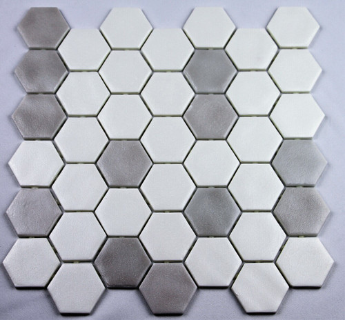 Bella Glass Tiles Hearth Palace Hexagon Stone Blend Soft HP2HSBS