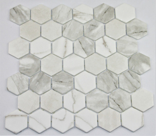 Bella Glass Tiles Hearth Palace Hexagon Zelik HP2HBZ