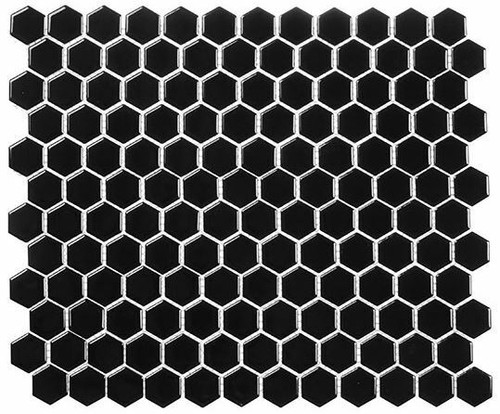 Bella Glass Tiles Freedom Avenue Hexagon Moonlithe FDM1814