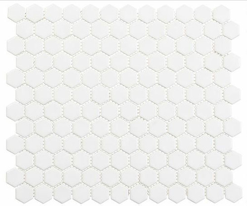 Bella Glass Tiles Freedom Avenue Hexagon Liberty Pure FDM1815