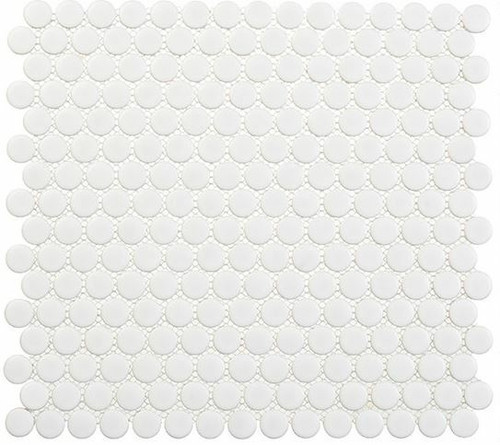 Bella Glass Tiles Freedom Avenue Penny Round Liberty Pure FDM1805