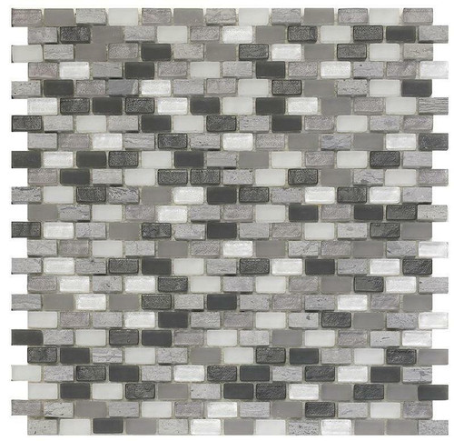 My Tile Backsplash Bello Series Dusk Mini Brick Mosaic MTB101