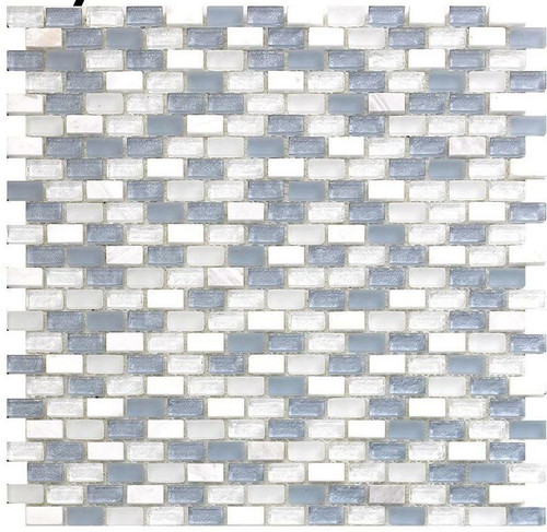 My Tile Backsplash Bello Series Sky Mini Brick Mosaic MTB104