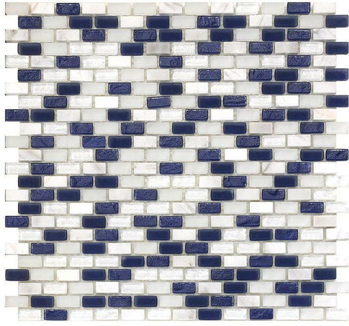 My Tile Backsplash Bello Series Marine Mini Brick Mosaic MTB105