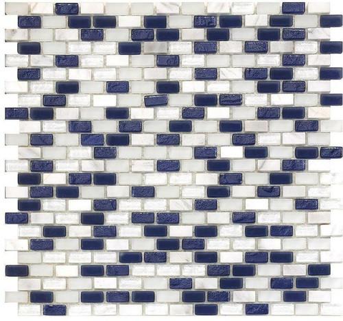 My Tile Backsplash Bello Series Marine Mini Brick Mosaic MTB105