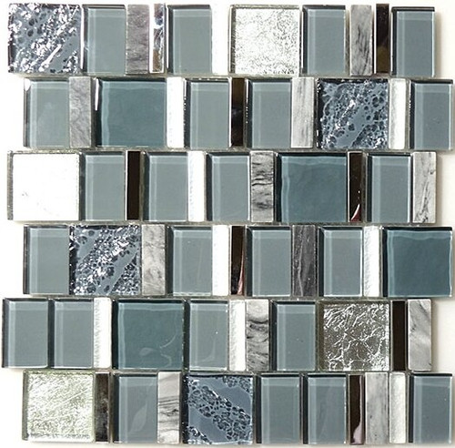 Bella Glass Tiles Academia Series Oceanic Cerulean