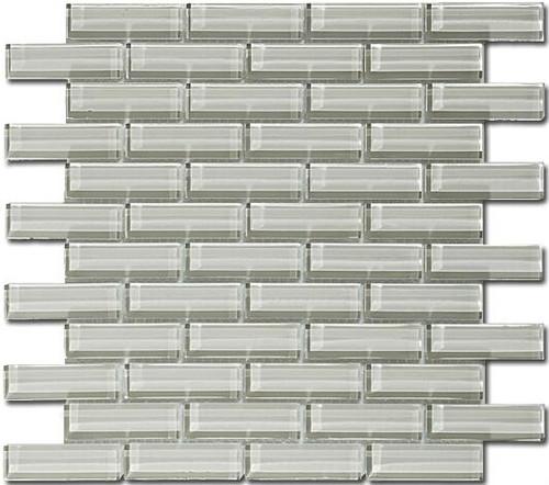 Bella Glass Tiles Crystile Series 1 x 3 Fog C03-2