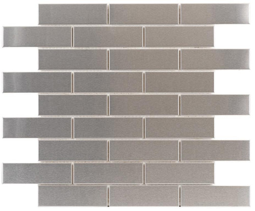 UBC Stainless Steel Tile Backsplash 1 x 4 Mosaic