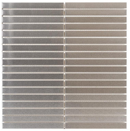 UBC Stainless Steel Tile Backsplash 5/8 x 6 Mosaic