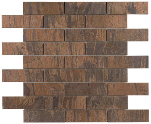 UBC Antique Copper Tile Backsplash 1 x 4 Mosaic