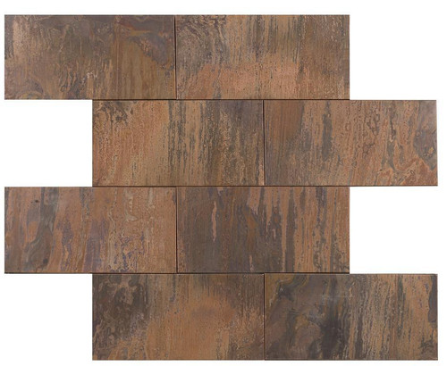 UBC Antique Copper Tile Backsplash 3 x 6
